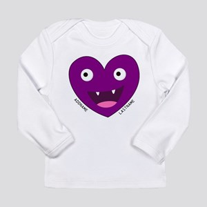 Monster Face Heart Personalized Purple Long Sleeve