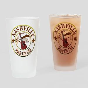 Nashville Music City USA-LT Drinking Glass