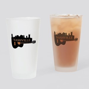 Nashville Guitar Skyline-LT Drinking Glass