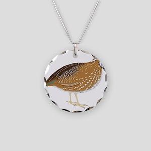 Guinea fowl bird Necklace Circle Charm