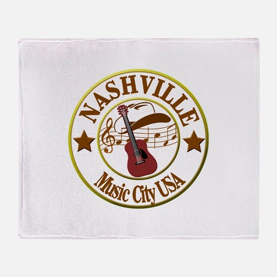 Nashville Music City USA-LT Throw Blanket