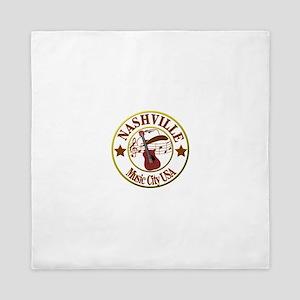 Nashville Music City USA-LT Queen Duvet