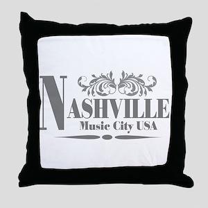 Vintage Nashville-01 Throw Pillow