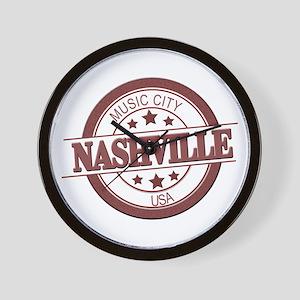 Nashville Music City-CIR Wall Clock