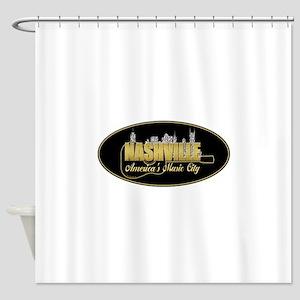 Nashville America's Music City-02 Shower Curtain