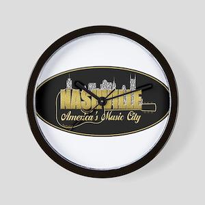 Nashville America's Music City-02 Wall Clock