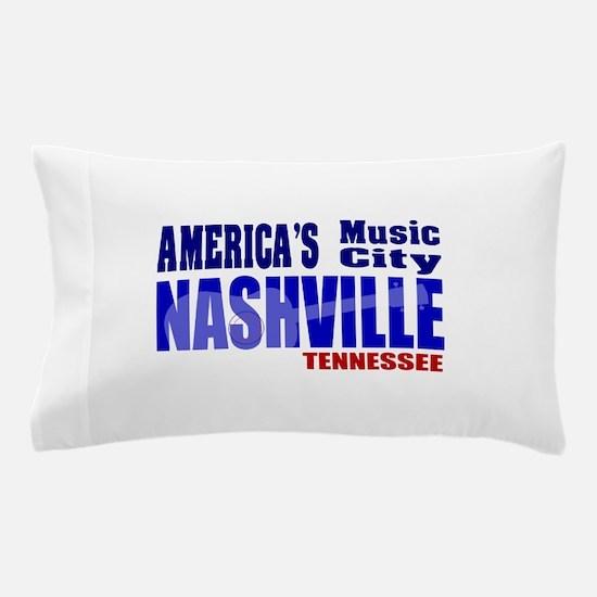 Nashville America's Music City-RWB Pillow Case