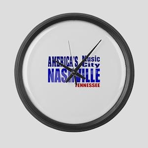 Nashville America's Music City-RWB Large Wall Cloc