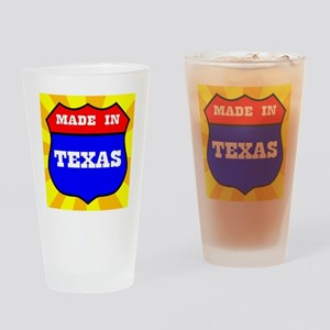 Made In Texas Shield Drinking Glass
