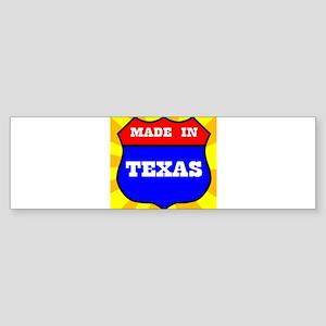 Made In Texas Shield Bumper Sticker