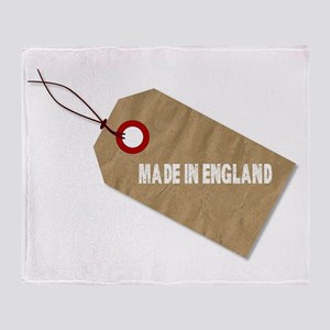 Made In England Tag Throw Blanket