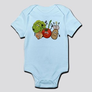 Funny cartoon vegetables Body Suit