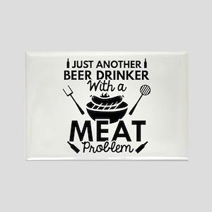 Beer Drinker Meat Rectangle Magnet