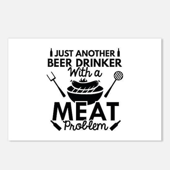 Beer Drinker Meat Postcards (Package of 8)
