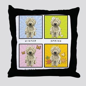 4 Seasons Doodle Throw Pillow