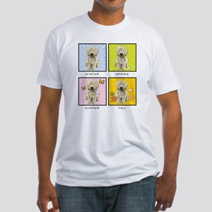 4 Seasons Doodle Fitted T-Shirt