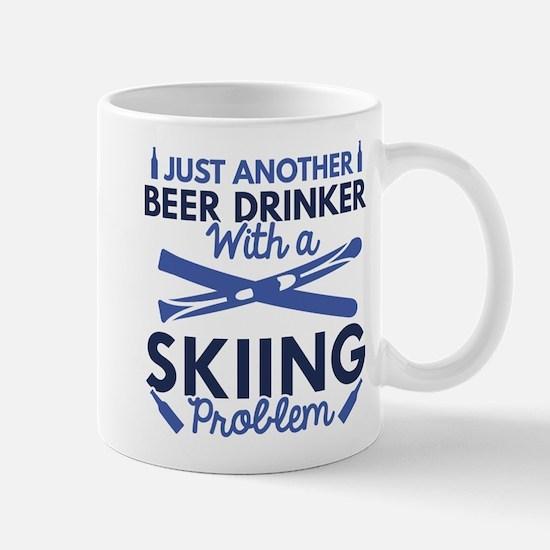 Beer Drinker Skiing Mug
