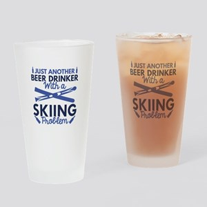 Beer Drinker Skiing Drinking Glass