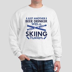 Beer Drinker Skiing Sweatshirt