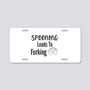 Spooning Leads To Forking Aluminum License Plate