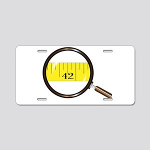 Magnifying Glass Tape Aluminum License Plate