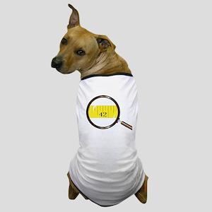 Magnifying Glass Tape Dog T-Shirt