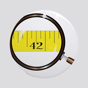Magnifying Glass Tape Round Ornament