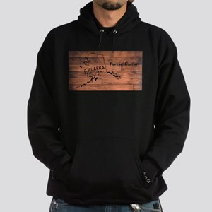 Alaska Map Brand Hoodie (dark)