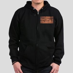 Alaska Map Brand Zip Hoodie (dark)