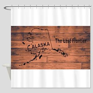 Alaska Map Brand Shower Curtain