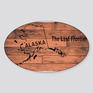 Alaska Map Brand Sticker
