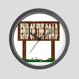 End Of The Road Wall Clock