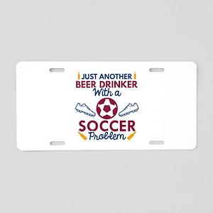 Beer Drinker Soccer Aluminum License Plate