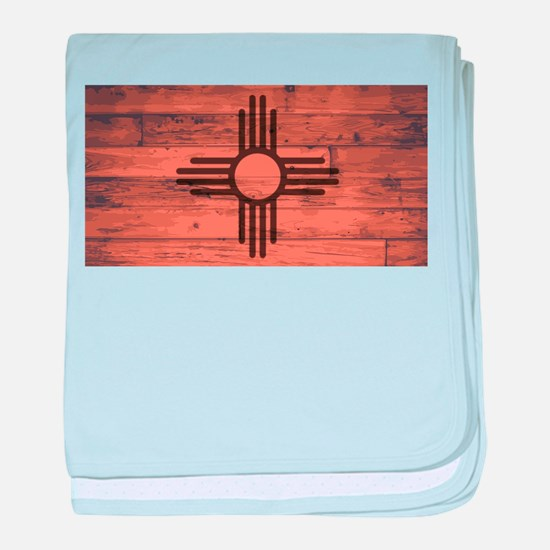 New Mexico State Flag Brand baby blanket