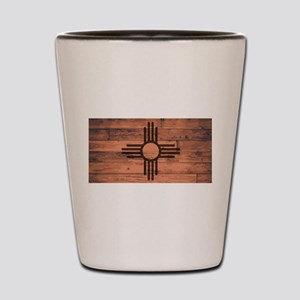 New Mexico State Flag Brand Shot Glass
