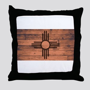 New Mexico State Flag Brand Throw Pillow