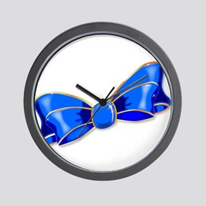 Blue Silk Bow Wall Clock