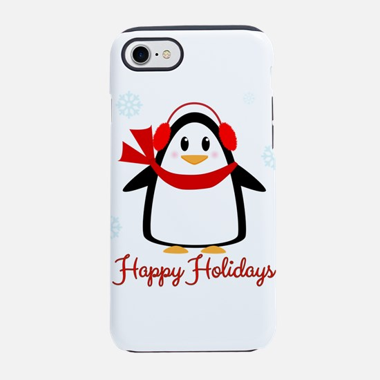 Happy Holidays Penguin iPhone 8/7 Tough Case