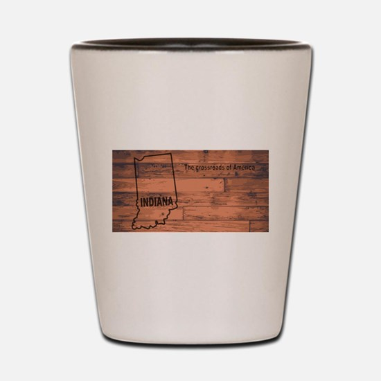 Indiana Map Brand Shot Glass