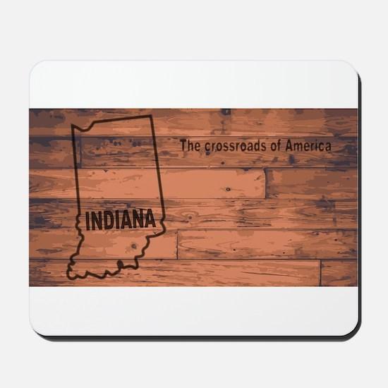 Indiana Map Brand Mousepad