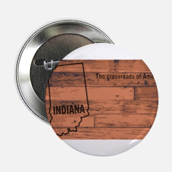 """Indiana Map Brand 2.25"""" Button"""