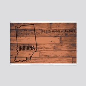 Indiana Map Brand Magnets