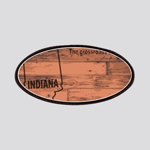 Indiana Map Brand Patch