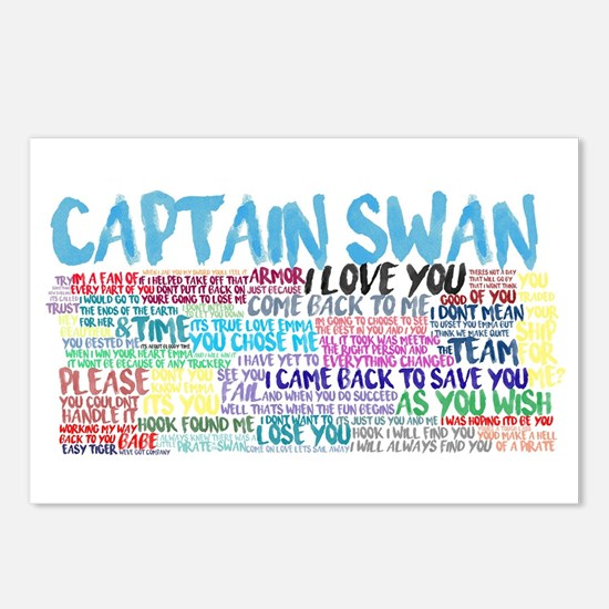 Captain Swan Quotes Postcards (Package of 8)