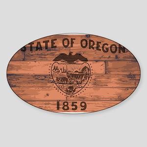 Oregon State Flag Brand Sticker