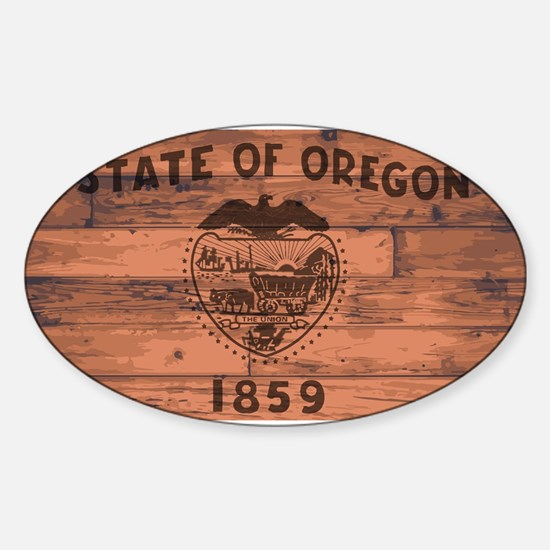Oregon State Flag Brand Decal