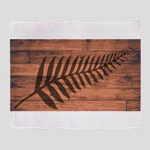 New Zealand Fern Brand Throw Blanket