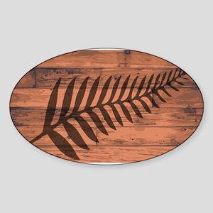 New Zealand Fern Brand Sticker