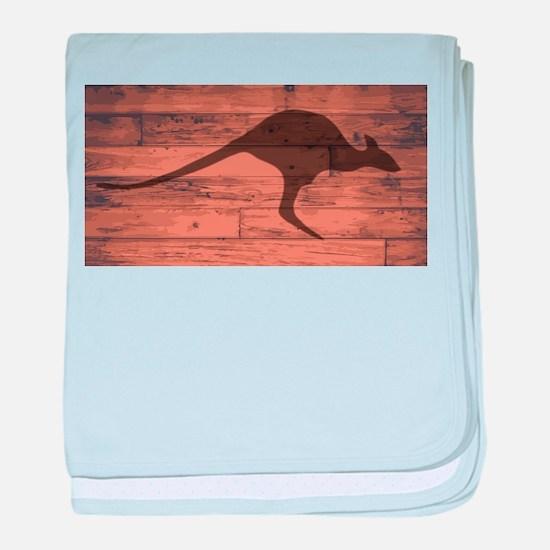 Australian Kangaroo Brand baby blanket