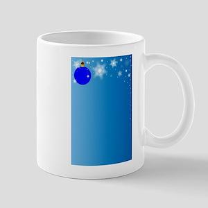 Christmas Blue Background Mugs